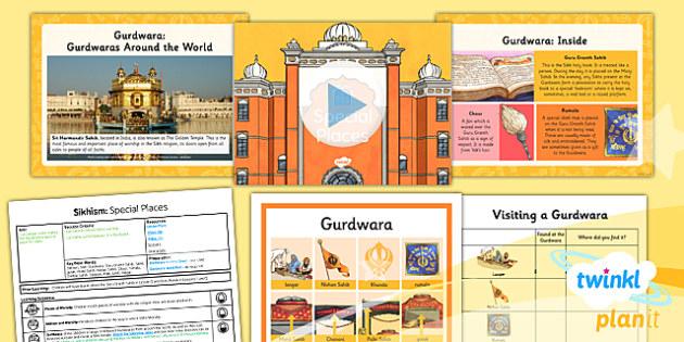 PlanIt - RE Year 3 - Sikhism Lesson 3: Special Places Lesson Pack - Gurdwara, Guru Granth Sahib,Takht, Manji Sahib, Rumala