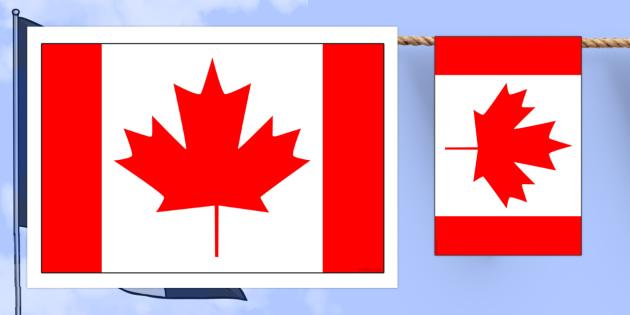 Canada Flag Display Bunting - commonwealth, display, flags