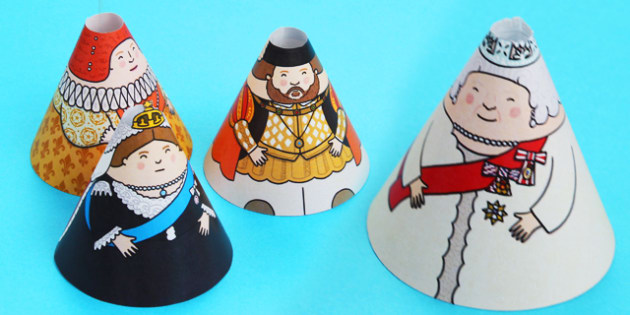 Significant British Monarchs Cone Characters - cone, characters