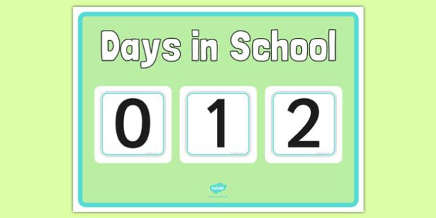 100 Days Count Down Poster - 100 days, count down, poster display poster, display