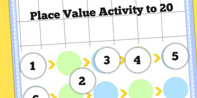 Place Value Activity to 20 - place value, values, numeracy, maths