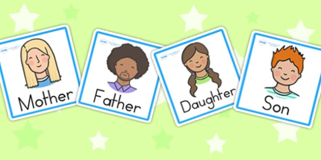 Family Members Role Play Badges - family, ourselves, badges