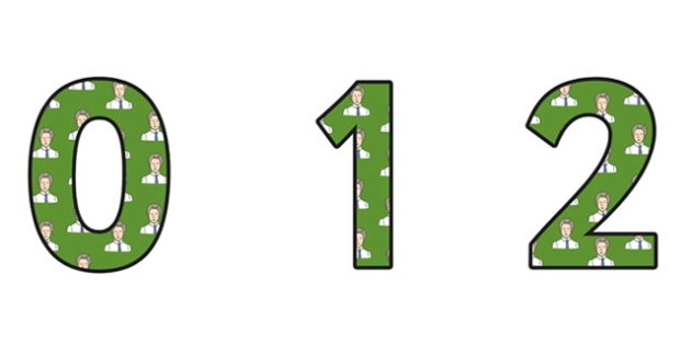 Edith Cavell Themed A4 Display Numbers - edith cavell, display numbers, themed number, classroom number, numbers for display, a4 numbers, numbers