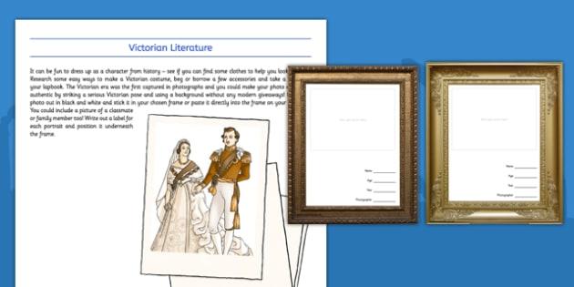 The Victorians My Photograph - Dress up, homework, research, drama, history, ks2, ks1, empire, victorian