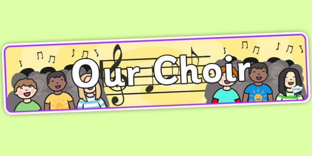 Our Choir Display Banner - our choir, choir, music, display banner, display, banner, banner for display, header, display header, display themed banner