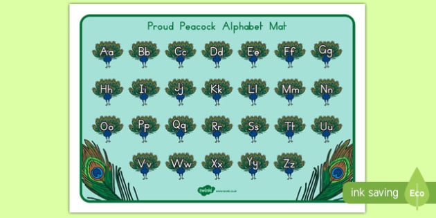 Proud Peacock Alphabet Mat