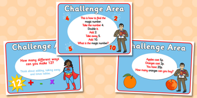 Challenge Area Cards Booster Numeracy - Challenge, numeracy, challenge are, can you, gifted and talented, challenges, challenge resources, Banner, Foundation Stage Area Signs, Classroom labels, Area labels, Area Signs, Classroom Areas, Poster, Displa