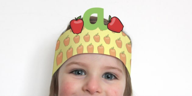 Phonics Headbands - phonics, headbands, phase 1, activities, games, letters, literacy, alphabet, sounds, word sounds, sounds of words