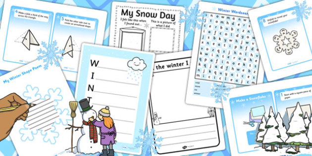 KS2 Snow Writing Pack - ks2, snow, writing pack, write, pack