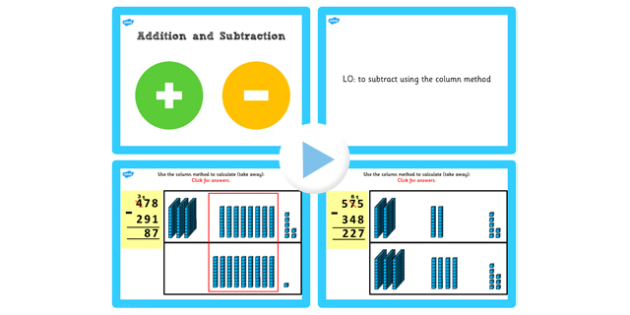 Y3 Add Subtract Lesson 4d 3 Digit Numbers 3 Digit Exchanging Once