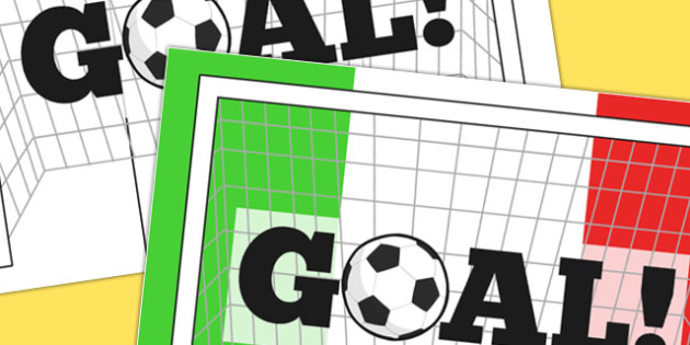 Italy Goal Display Poster - display, poster, goal, italy, sport