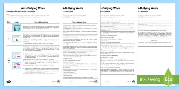 KS2 Anti-Bullying Assembly Script - Priority Resources, anti bullying week, bullying, pshe, pshce, script, assembly, SLT
