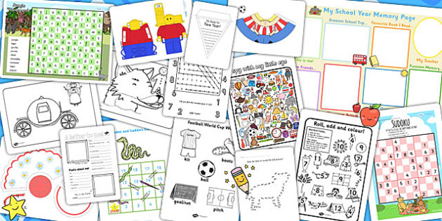 EY and KS2 End of Term Resource Pack - transition, key stage two