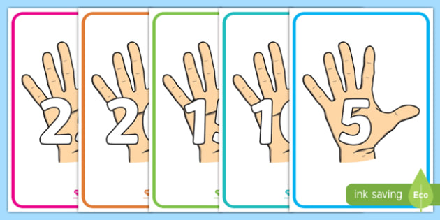 Skip Counting in 5s Display Posters