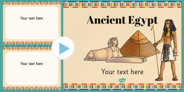 Ancient Egypt Themed PowerPoint Template - Ancient, Egypt, PPT