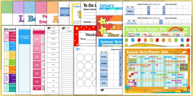 EYFS Class Management Teacher Folder Resource Pack - Early Years, Nursery, Reception, Assessment, Planning, Class Organisation