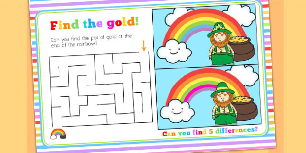 Rainbow Themed Birthday Party Activity Place Mats - parties