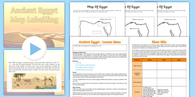 Ancient Egypt Map Lesson - CfE, Social Studies, Ancient Egypt, maps, keys, theRiver Nile