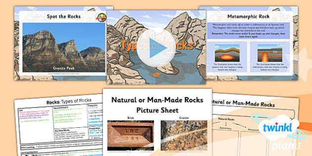 PlanIt - Science Year 3 - Rocks Lesson 1: Types of Rocks Lesson Pack