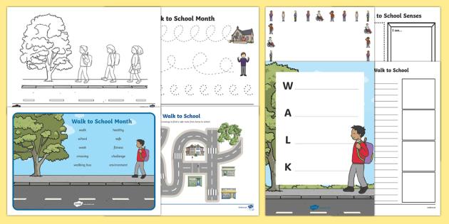 Top Ten Walk to School Month  Activity Pack