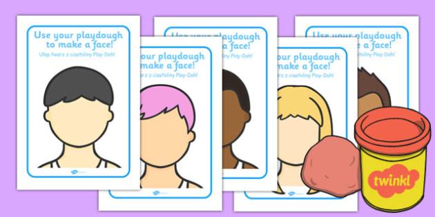 Faces Playdough Mats Polish Translation - polish, faces, playdough mats