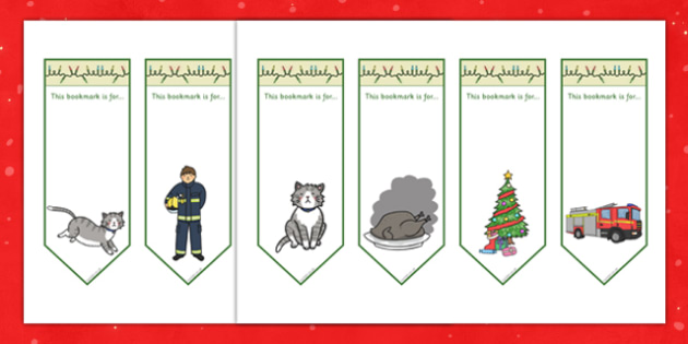 Christmas Cat Themed Bookmarks - christmas cat, cat, christmas, themed, bookmarks, mog