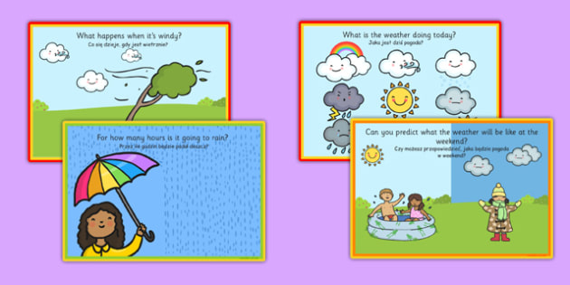 Challenge Cards Weather Forecasting Polish Translation - polish, challenge, cards, weather, forecasting