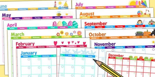 Themed Academic Calendar - calendars, planning, organisation