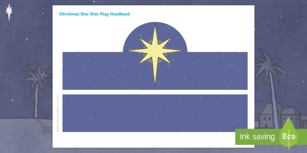 Christmas Star Headband - Nativity, Christmas, Bethlehem, star, Christmas star, Jesus, Baby Jesus