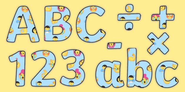 Emojis Display Lettering