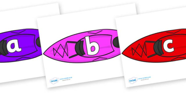 Phase 2 Phonemes on Canoes - Phonemes, phoneme, Phase 2, Phase two, Foundation, Literacy, Letters and Sounds, DfES, display