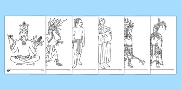 Mayan Colouring Pages - mayan, colouring sheet, colour, colouring, maya, civilisation