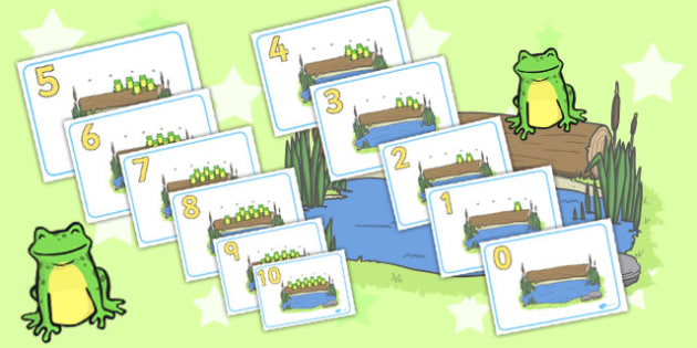 Countdown Display Posters (10 Speckled Frogs ) - countdown, 10, 9, 8, speckled frogs, frogs, display, poster, sign, numeracy, counting down, counting, 0-10