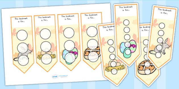Sticker Reward Bookmarks - stickers, rewards, awards, bookmark