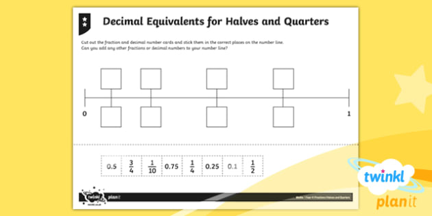 PlanIt Y4 Fractions Decimal Equivalents for Halves and Quarters Home Learning - Fractions, decimals, decimal equivalent, half, halves, quarter, quarters, tenths, hundredths, three