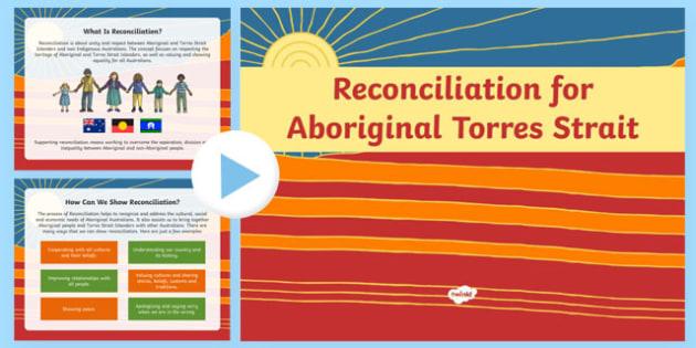 Aboriginal and Torres Strait Islander Reflection PowerPoint - recon