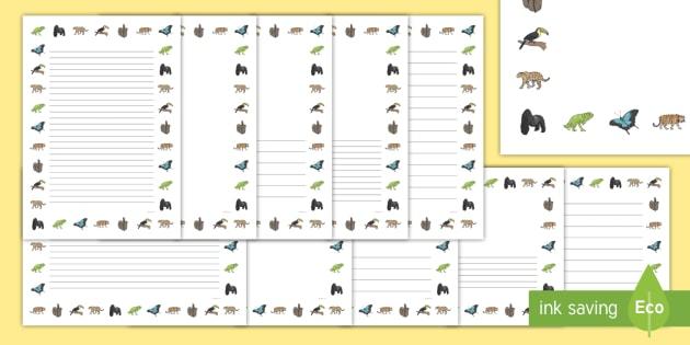 Jungle Page Borders - jungle, page, borders, landscape