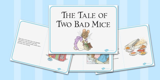 The Tale of Two Bad Mice Story - two bad mice, story, tale, mice