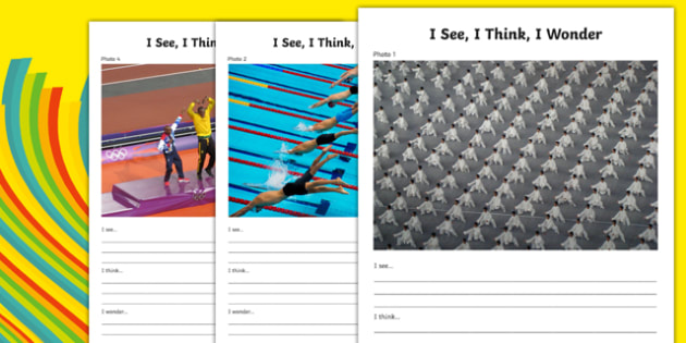 The Olympics - I See, I Think, I Wonder Photo Pack