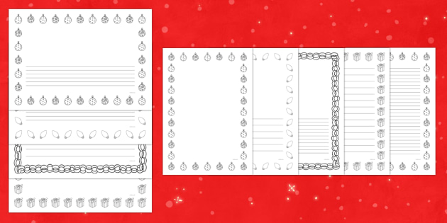 Christmas Mindfulness Colouring Page Border Pack - Priority Resources