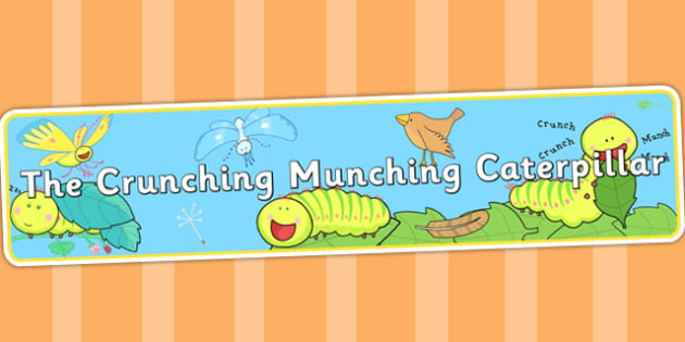Display Banner to Support Teaching on The Crunching Munching Caterpillar - header, story