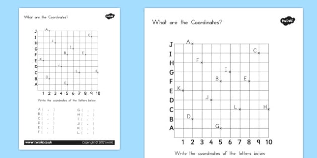 What are the Coordinates Worksheet - australia, coordinates