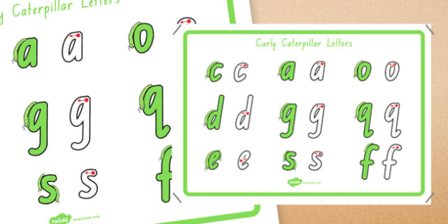 Curly Caterpillar Letters Formation Display Poster Foundation - australia, letter formation, display poster, display, poster, letter, formation, curly caterpillar