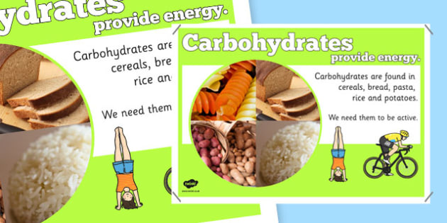 Year 6 Carbohydrate Nutrients Display Poster - healthy eating