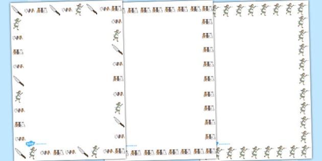 Three Blind Mice Page Borders - Three Blind Mice, nursery rhyme, Literacy, writing, page border, a4 border, template, writing aid, writing border, page template, rhyme, rhyming, nursery rhyme story, nursery rhymes, Three Blind Mice resources,
