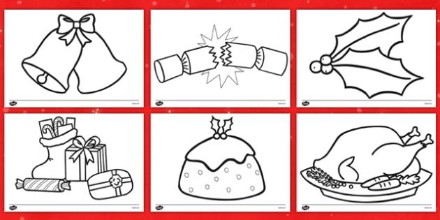 Christmas Themed Colouring Sheets - christmas, colouring