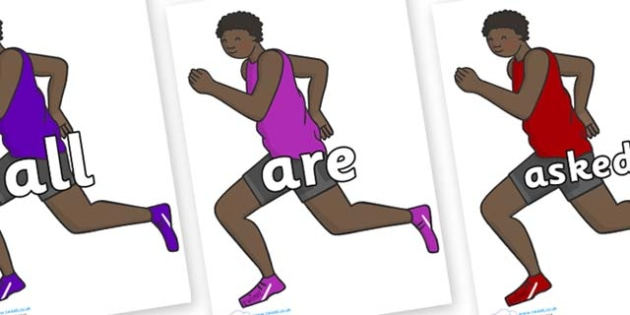 Tricky Words on Runners - Tricky words, DfES Letters and Sounds, Letters and sounds, display, words