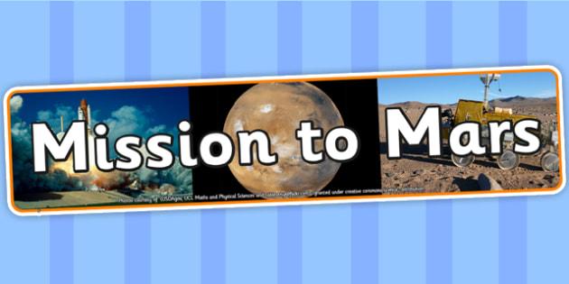 Mission to Mars IPC Photo Display Banner - mission to mars, IPC display banner, IPC, mission to mars display banner, IPC display, mars IPC banner