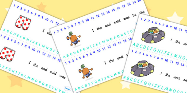 Alphabet and Number Strips to Support Teaching on Aliens Love Underpants - aliens love underpants, alphabet, number, alphabet strips, number strips, a-z, a-z strips