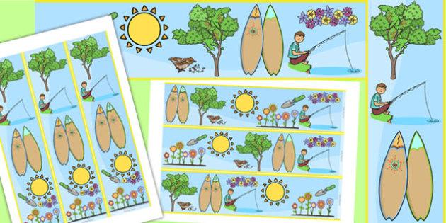 Spring Display Border - seasons, weather, display board, borders